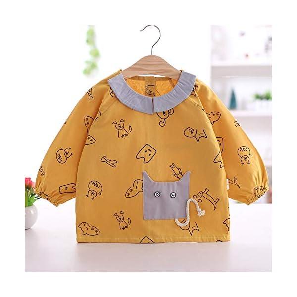 YuJian12 - Babero de Manga Larga para bebé (algodón, Resistente al Agua), G, M 73-80CM Baby 2