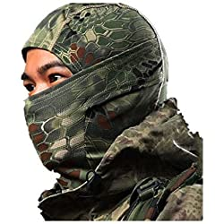 RoyMan Balaclava Masque Camouflage Intégral Militaire Tactical Ninja Capuche Chasse Cyclisme Masque Camouflage - Forêt