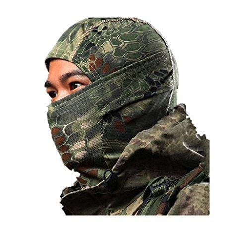 Kapuzenmütze Maske Camouflage Das Gesicht Bedeckend Militär Taktisch Ninja Kapuze Jagd Radsport Maske Camo - Waldland (Atem Kapuze)