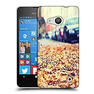 Snoogg Roadside Leaves Designer Protective Phone Back Case Cover For Nokia Lumia 550