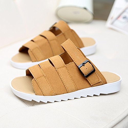 ZYUSHIZ Paare Sandalen reine Farbe Freizeitaktivitäten rutschfeste Hausschuhe tragen Cool 36EU