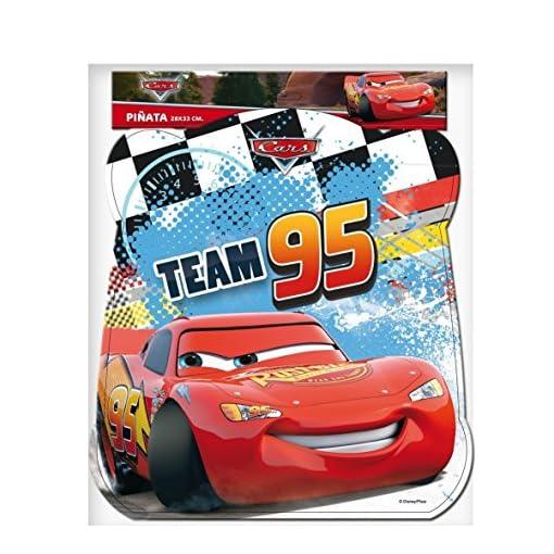 Pinata-CARS-Team-95-Wird-mit-Sssigkeiten-oder-Spielen-gefllt-ca-28cm-Durchmesser-Piata-Mexiko-Kinder-Geburtstag-Kindergeburtstag-Spiele-Spass-Disney-Jungen-Autos-Rennwagen
