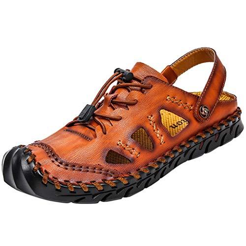 Outdoor Atmungsaktive Mode Lässig Herrenschuhe Große Trekking Sandalen Wanderschuhe(Braun,39) ()