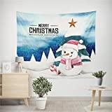 Prevently Brand New Creative Printing Christmas Xmas Tapestry Hippie Room Bedspread Wall Hanging Throw Blanket Picnic Blanket and Beach Room Home Wall Window Decoration (F)
