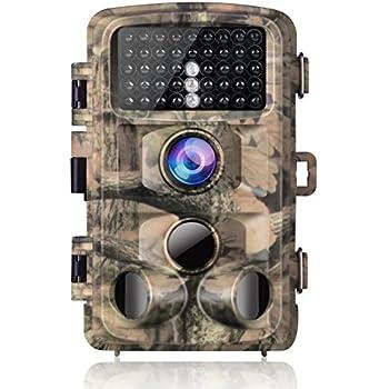 SUNTEKCAM Wildkamera 16MP 1080P Full HD Profi Outdoor /Überwachungskamera Wildkamera Nachtsicht Weitwinkel IP65 wasserdicht kabellos 0,3 Sekunden Ausl/ösezeit Bewegungsmelder Fotofalle