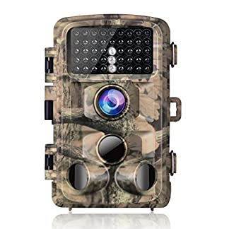 "Campark Trail Game Camera, 14MP 1080P Waterproof Hunting Scouting Cam Wildlife Monitoring 120° Detecting Range Night Vision 2.4"" LCD IR LEDs"