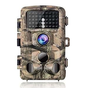 """Campark Wildkamera 14MP Full HD 1080P Jagd Kamera Wasserdicht Gartenkamera 120° Weitwinkel Vision Überwachungskamera 2.4"""" LCD 42pcs Low Glow 20m Nachtsicht mit Bewegungsmelder IP56"""