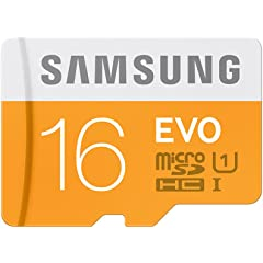 Samsung EVO Class 10 16  GB MicroSDHC 48 MB/S Memory Card without SD Adapter  MB MP16D/IN