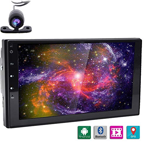 Neueste Android 6.0 Auto Pad Tablet PC Radio Stereo Head Unit Doppel DIN Auto GPS Entertainment Dash Center Verstärker Media HD 1080P Player GRATIS Nacht Vision Backup Kamera - Quad Core DDR3 1 G Nand-16 g -