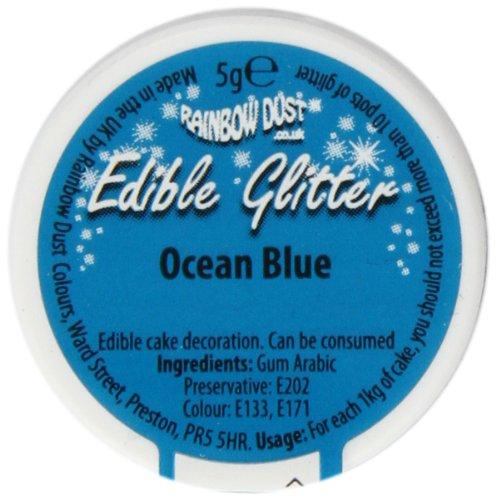Ocean Blue Edible Glitter