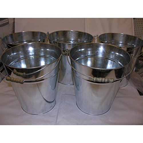 5x Zinkeimer Ascheeimer Wassereimer Blecheimer Eimer verzinkt Pflanzkübel 10L