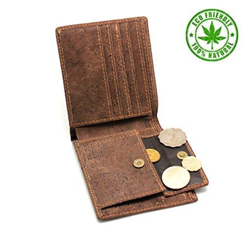Vegane Geldbörse von boshiho aus Kork – dunkelbraun - 3
