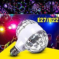 Bonbela Stage Lights B22 E27 6W Double-headed LED Ball Stage RGB Light Rotating Lamp KTV Club Party DJ Disco Decoration