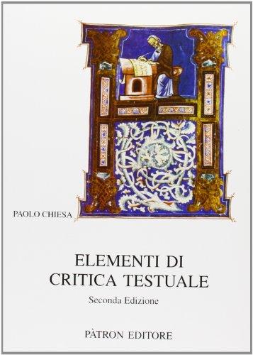 Elementi di critica testuale