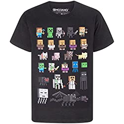 Minecraft - Camiseta para niño - Minecraft - Negro - 11 - 12 Años