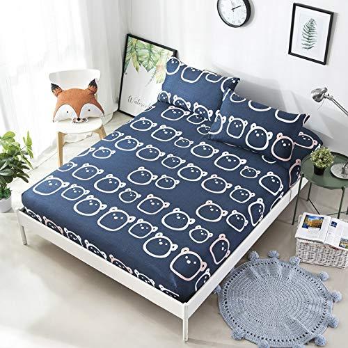 hllhpc Bettlaken Einzelstück Baumwolle Baumwolle 1,8m Bettdecke 1,5m Bettdecke Bettdecke Bettwäsche Matratzenset Custom Beanie Bär 120x200cm Plus Kissenbezug 2