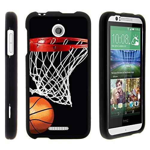 MINITURTLE Schutzhülle für HTC Desire 510 (Sprint, Cricket, Boost Mobile, Virgin Mobile) inkl. Displayschutzfolie und Eingabestift, Basketball Swish