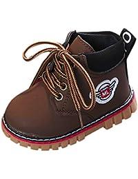 Cenyanga Baby Warm Boy Girl Viento británico Martin Botas de nieve Zapatilla con cordones Zapatos con