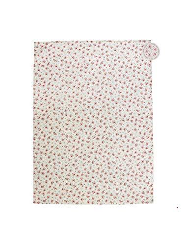 Dotcomgiftshop La Petite Rose Torchon en coton imprimé