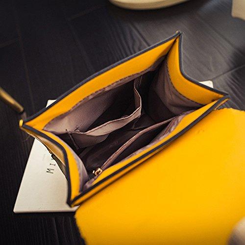 Meoaeo Spalle Singolo Doppio Spalle Dolce Signore Multiuso College Vento Bianco yellow