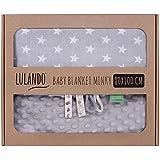 LULANDO Couverture bébé réversible Minky - moelleux, ultra doux, chaud et respirant - Cadeau idéal - 80x100 cm Petite Bulle Velours