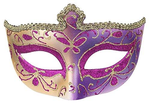 Y-BOA Damen Venezianischen Karnevalsmaske Spitze Maskerade Maske Augenmaske für Halloween Masquerade Kostüm-Partei 17x11cm Lila