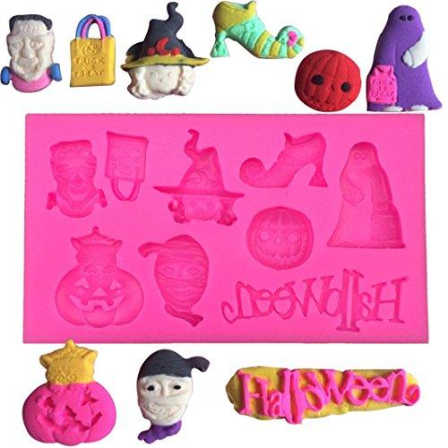 Halloween Multi-Muster Kuchenform Kreative Happy Halloween Silikon Kürbis Kuchen Silikonform Küche Backen Werkzeuge Kuchen-Silikon-Form (Halloween Cupcakes Dekorieren Für)