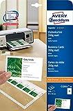Avery Zweckform C32011-10 Superior Visitenkarten (100 Stück, 85 x 54 mm, einseitig bedruckbar, matt) 10 Blatt