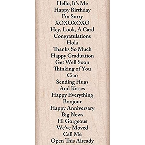 Hero Arts Mounted Rubber Stamp 4-inch x 2-inch-All Message Backg round