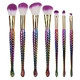 Frola–Pro 7pz Mermaid make up pennello set fondazione per sopracciglia eyeliner blush correttore cosmetico Tool