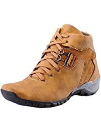 Shoe Rock Vision Men's Tan Synthetic Leather Casual Shoes (7, Tan)