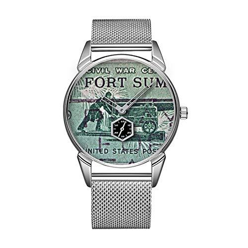 Mode wasserdicht Uhr minimalistischen Persönlichkeit Muster Uhr -161. BürgerKrieg Fort Sumter Stempel Uhr