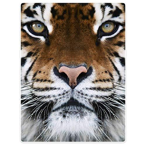 YISUMEI Decke 150x200 cm Kuscheldecken Sanft Flanell Weich Fleecedecke Tierdruck Tiger Gesicht