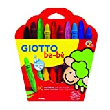 GIOTTO be-¸ 4668 00 – onbreekbare waxstiften 10 Wachsmalkreiden gesorteerde kleuren