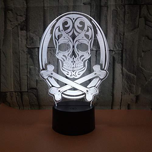 Kreative Erwachsene Kostüm Einfach Für - sgtdraw Bunte kreative Lampe des Nachtlichtes 3D der Halloween-Note Nacht