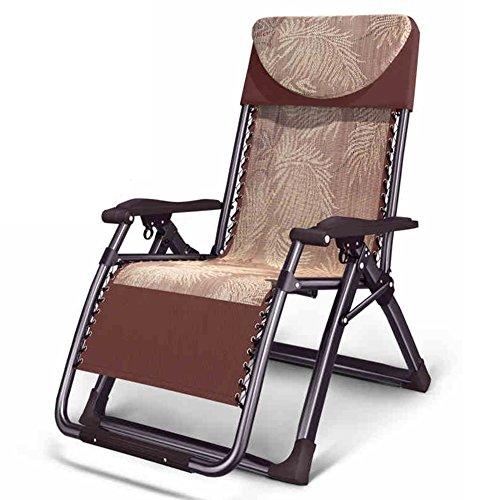 QIDI Chaise Longue Pliante Loisirs Outdoor Métal 96cm * 70cm * 20cm