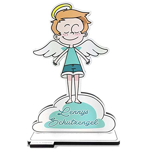 Doctors - angelo custode con nome per bambini, in legno, personalizzabile, regalo per la scuola, battesimo, nascita