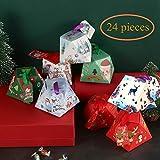 navidad cajas de regalo caja de caramelos decoraciones cajas tratar las fuentes del partido para regalos de cumpleaños de Navidad boda víspera de Acción de Gracias y niños del favor de, 24 piezas