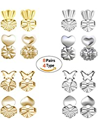 81116f846 Geenber Earring Backs Lifters - Magic BAX 8 Pairs Earring Backs Set  Adjustable Hypoallergenic Safety Locking