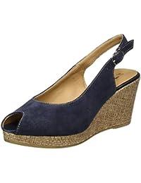 Tamaris Damen 29303 Offene Sandalen mit Keilabsatz