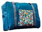 Innovativa Ammissione Pacchetto Pieghevole Borsa Da Viaggio Di Stoccaggio Organizzatore Poliestere Imballaggio Con Grande CapacitÀ Shopping Bag A Tracolla Accessori Viaggio-blu