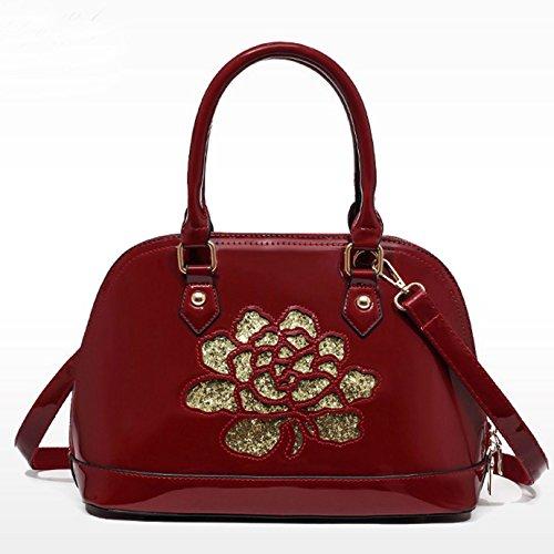 27472bffc66ea ... AiSi Damen Lack Leder Handtasche  Damenhandtasche  Schultertasche   Crossbody Bag  Umhängetaschen  Henkeltasche ...