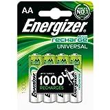Energizer Original Akku Universal Mignon AA (1300mAh, 1,2 Volt, 4-er Pack)