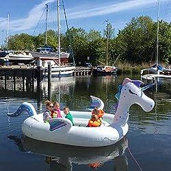 New Wave Swim Buoy WAVETM Piscina y Barco Hinchable Gigante con Unicornio