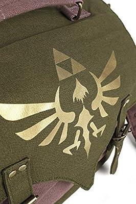 The Legend Of Zelda Logo Doré Sac à Bandoulière Olive