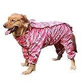 Duanmei Gabardina para Perros Traje Impermeable de Cuatro Patas Perros medianos y Grandes Golden Retriever Labrador Impermeable Grande para Perros Ropa Impermeable para Mascotas