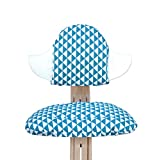 Blausberg Baby - Sitzkissen Set für Nomi Hochstuhl von Evomove - Dreiecke Blau