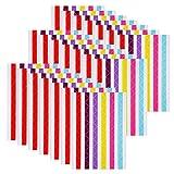30 Blätter Foto Ecken Selbstklebende Bildmontage Ecke Aufkleber für Fotoalbum, Sammelalbum, Journal, Molkerei (Mehrfarbig)