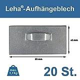 Selbstklebendes Haftblech 8x4cm mit Öse, Spiegelaufhänger, Aufhängeblech, Klebeblech, Dibondaufhänger (20 Stück)