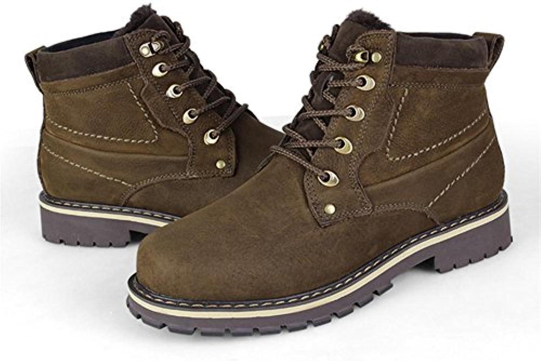 Winter Herren hohe Stiefel mit High Fashion Stiefel mit Stiefeln plus Gr??e   40   black